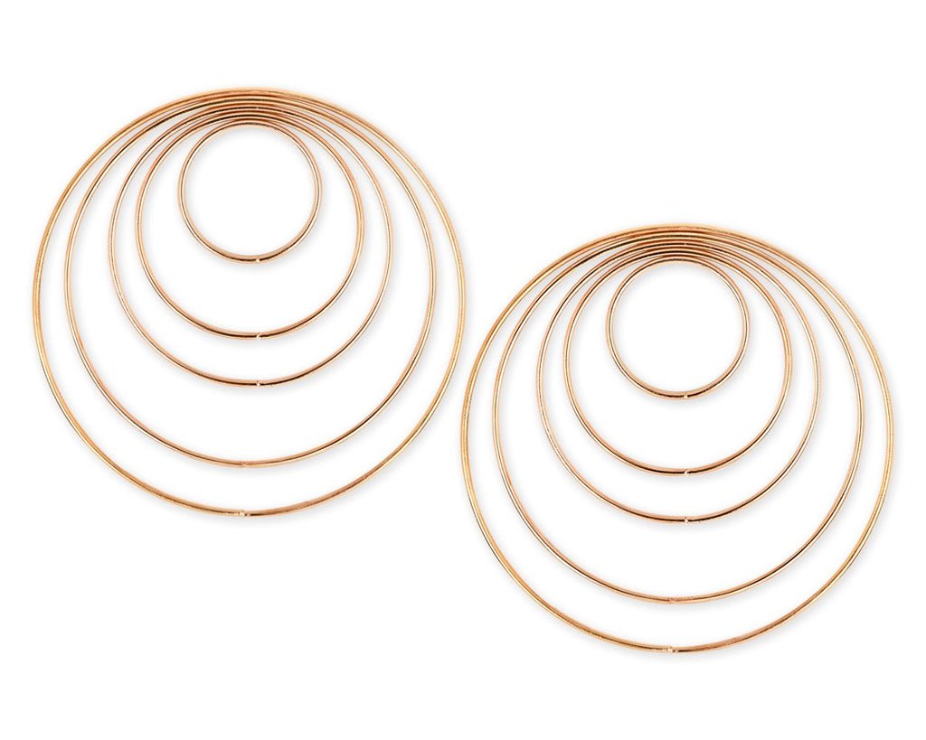 Set of 10 Metal Hoops for Dream Catcher and Craft - Gold