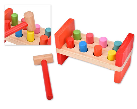 Wooden Hammer Bench Educational Toy Set