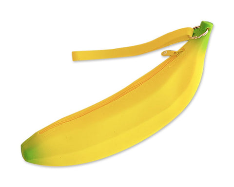 Banana shaped Pencil Case Silicone Coin Purse