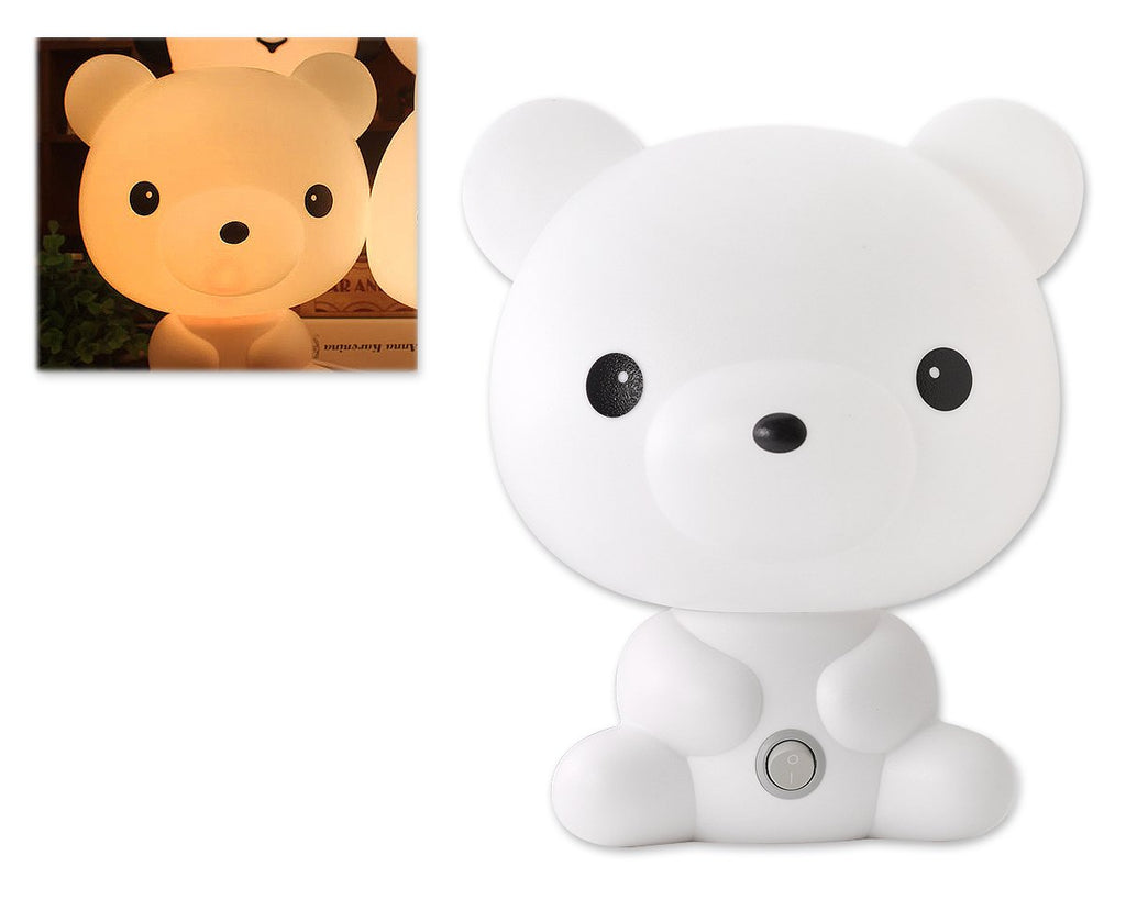 Children Table Lamp - White Bear
