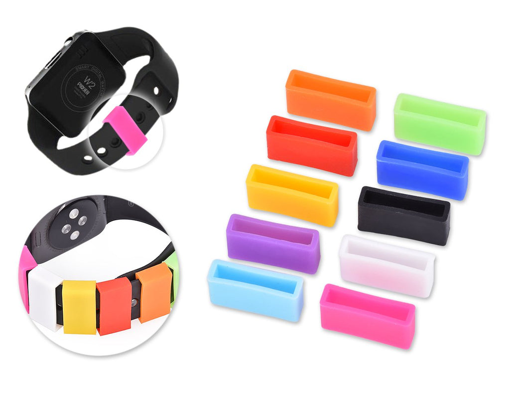 10 Pcs Silicone Fastener Ring for Fitbit Charge Wristband Bracelet