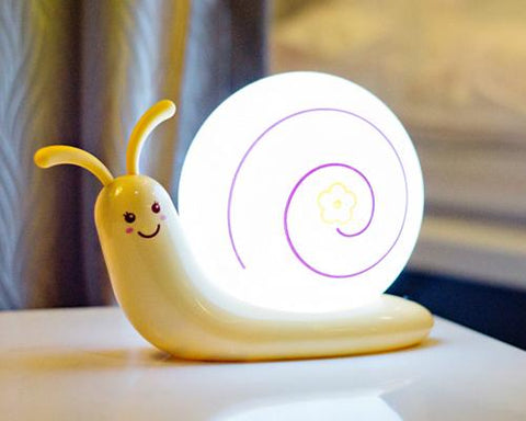 USB Rechargeable LED Night Light for Kids - Yellow Snail