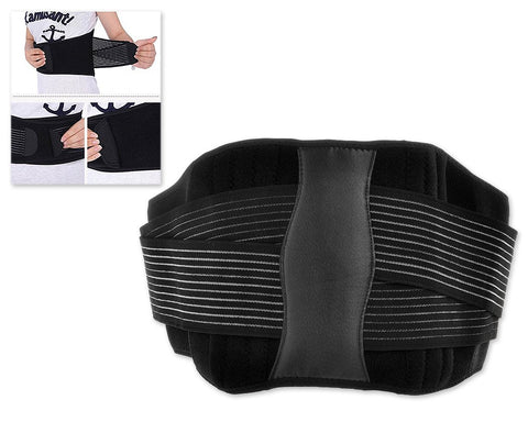 Adjustable Lumbar Lower Back Belt Strap - Black