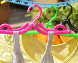 5 Pcs Different Colors Plastic Folding Clothes Hanger