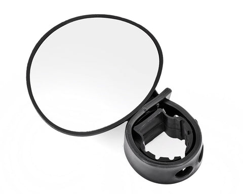 1 Pair Bike Mirror with Adjustable Handle - Black