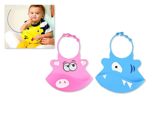 2 Pieces Silicone Baby Bibs - Set A