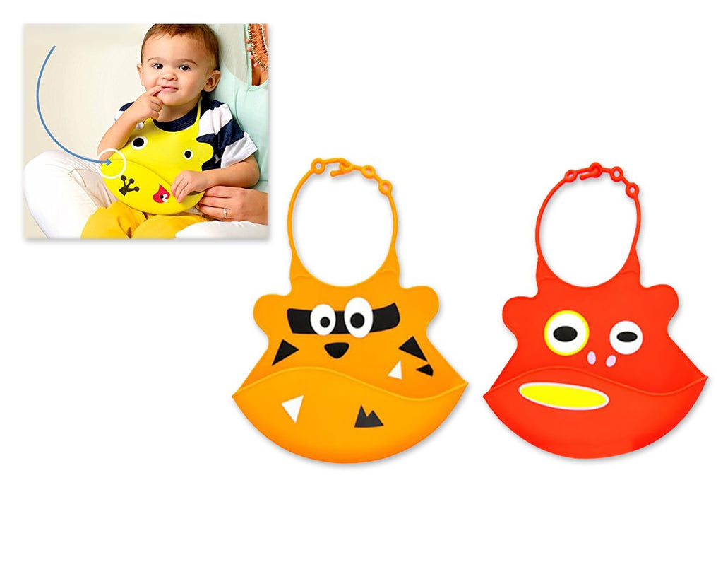2 Pieces Silicone Baby Bibs - Set B