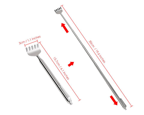 Telescopic Scratchers 3 pieces Stainless Steel Back Scratchers