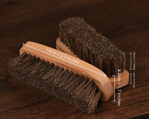 Horsehair Shoe Brush for Polishing Shoe Shine Brush with Soft Bristles