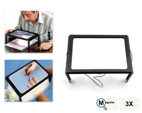 3X Foldable Magnifier with LED Light
