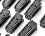 20 Pcs Non-slip Hanging Clips Clothespins - Black