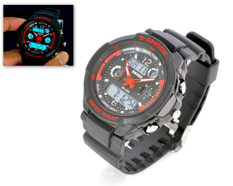 SKMEI Waterproof Analog Digital Men's Sport Watch 0931 - Red