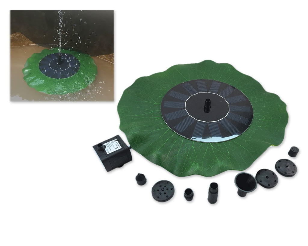 Lotus Leaf Shaped Floating Solar Fountain