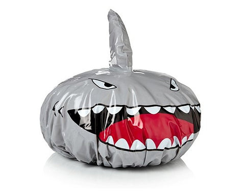 Shark Shape Shower Cap - Silver