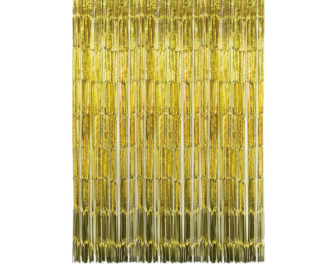 2 Pieces Fringe Foil Door Curtains