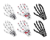 2 Pairs Gothic Skeleton Hands Bone Hair Clips - Black and White by DS. DISTINCTIVE STYLE