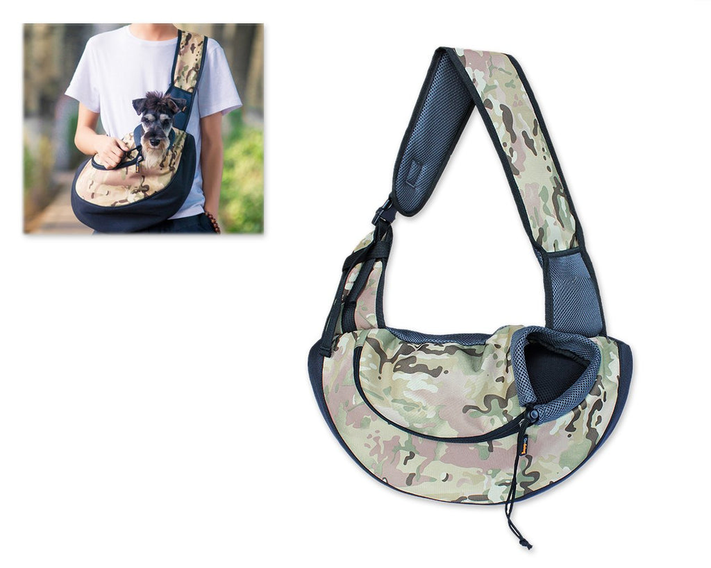 Pet Hand-free Shoulder Bag - Camouflage Green