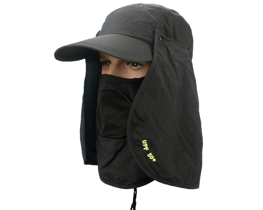 UV 50+ Sun Hat with Neck Protection Flap and Mask