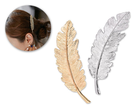 2 Pieces Korean Style Leaf Shaped Hair Clip