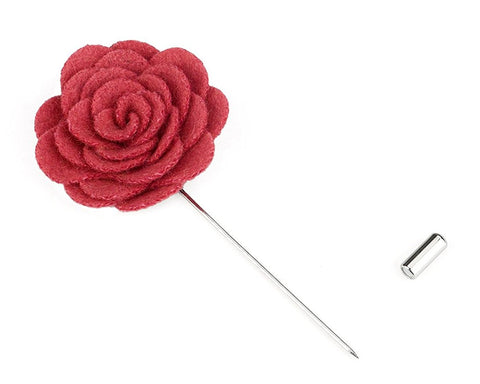 12 Pieces Lapel Pin Flower Men's Boutonniere for Suit - Flowers Series
