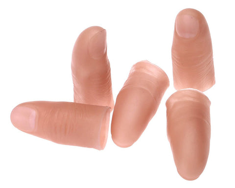 Fake Thumb Tip Magic Trick Finger Tip for Halloween Set of 5