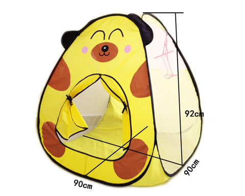 Pop-Up Play Tent with Basketball Hoop - Yellow