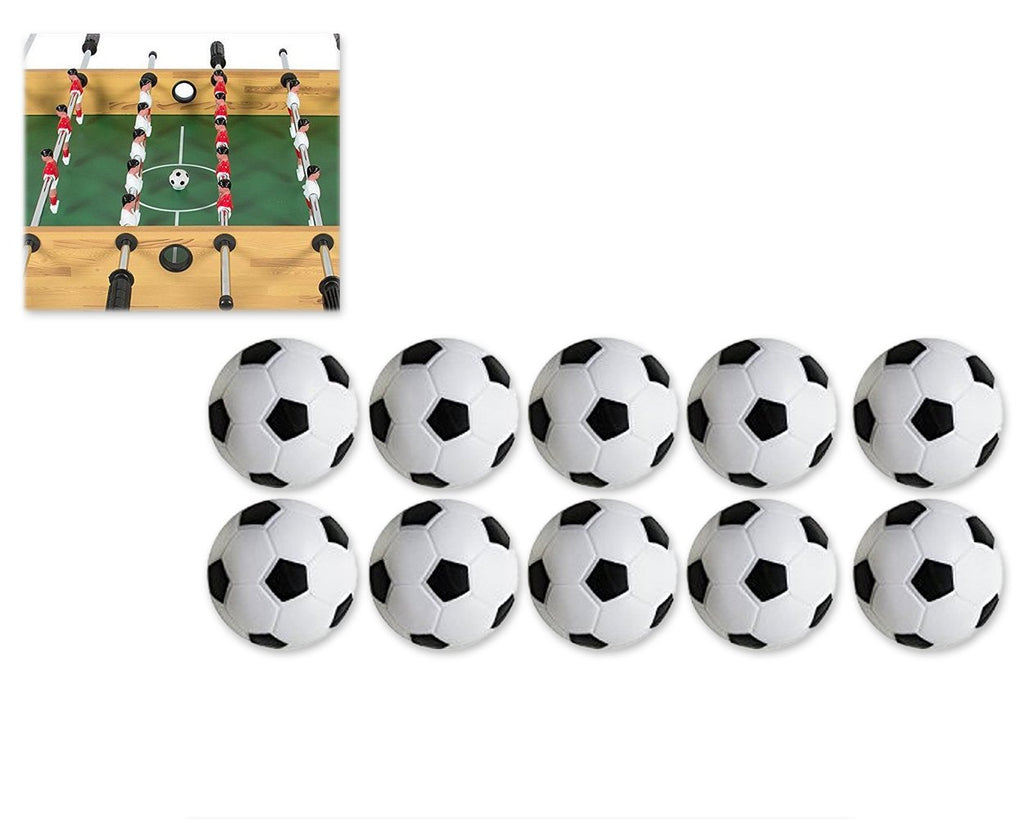 10 Pieces 32mm Toy Footballs for Table Football Foosball