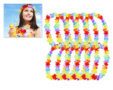 10 Pieces Hawaiian Ruffled Flower Lei