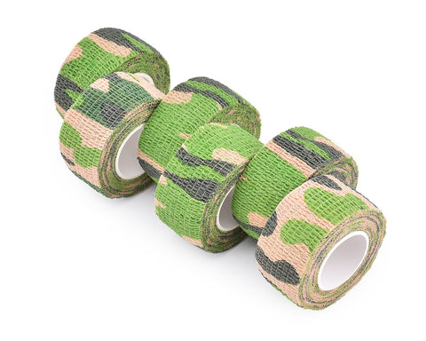 6 Rolls 4.5 Meters Self Adhesive Non Woven Camouflage Tape