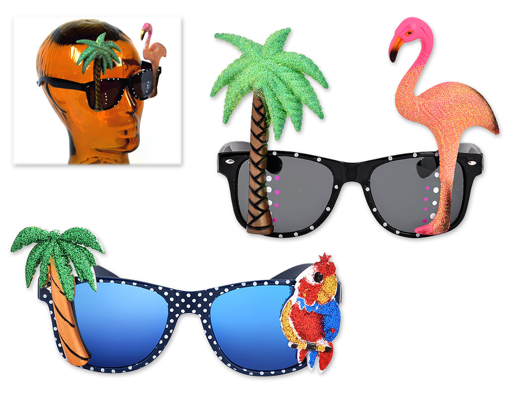 Funny Party Sunglasses Hawaiian Tropical Glasses Set of 2
