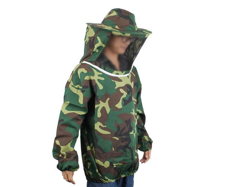 Camouflage Bee Jacket with Veil - Green