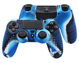 Camouflage Series Silicone Protective Case for PS4 Controllers - Blue