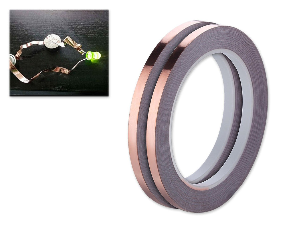 2 Pieces 25 Meters Copper Foil Tape with Conductive Adhesive