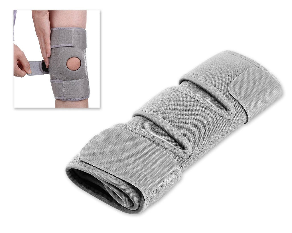 Adjustable Sports Knee Support Breathable Thick Knee Pads - Grey