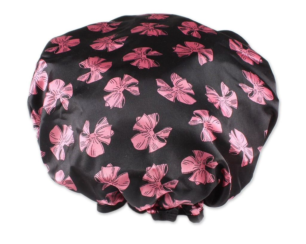 Double Layer Shower Cap with Butterfly Pattern