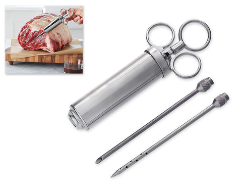 Meat Injector Stainless Steel Marinade Injector Kit with 2 oz Barrel
