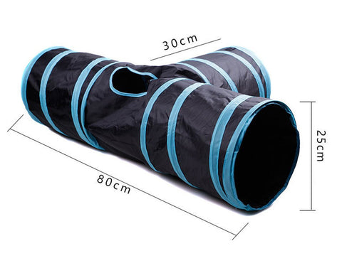 3 Ways Cat Tunnel Collapsible Pet Toy with Ball