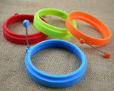 4 Pieces Non Stick Silicone Egg Rings