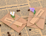 6 Pcs Greeting Cards with Dried Flowers for Birthday Valentines Day