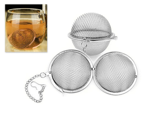 2 Pieces Stainless Steel Ball Shaped Tea Infusers - Silver
