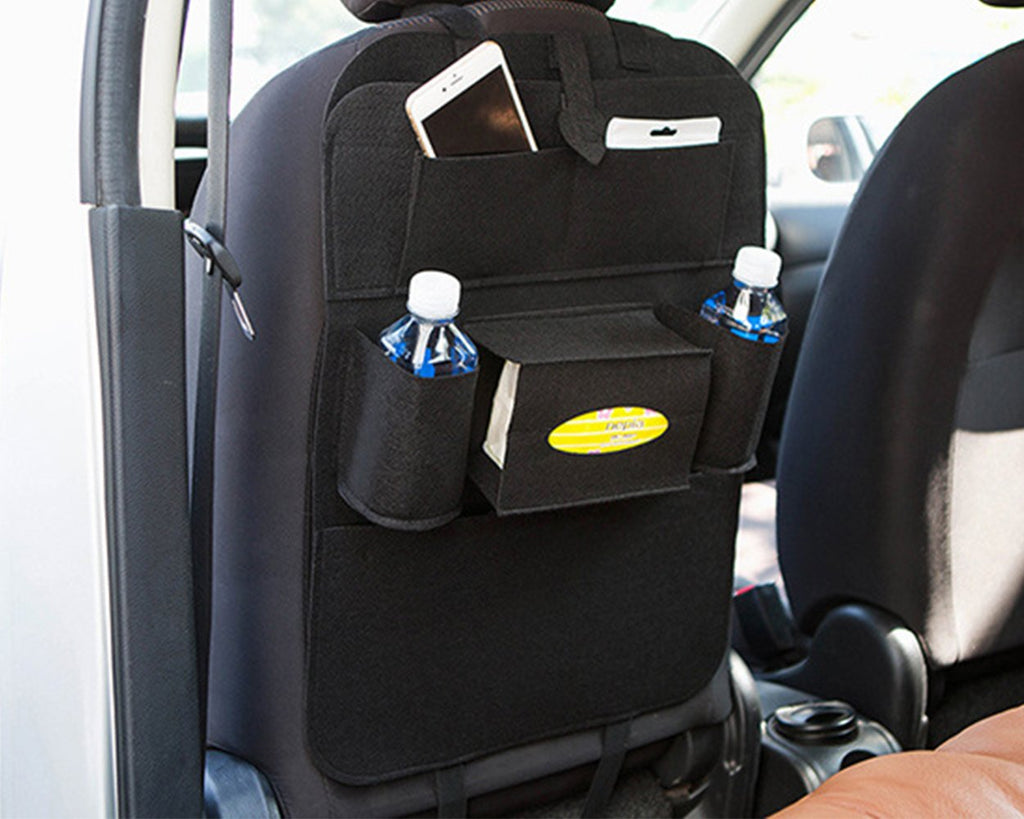 Multi-pocket Car Seat Organiser - Black
