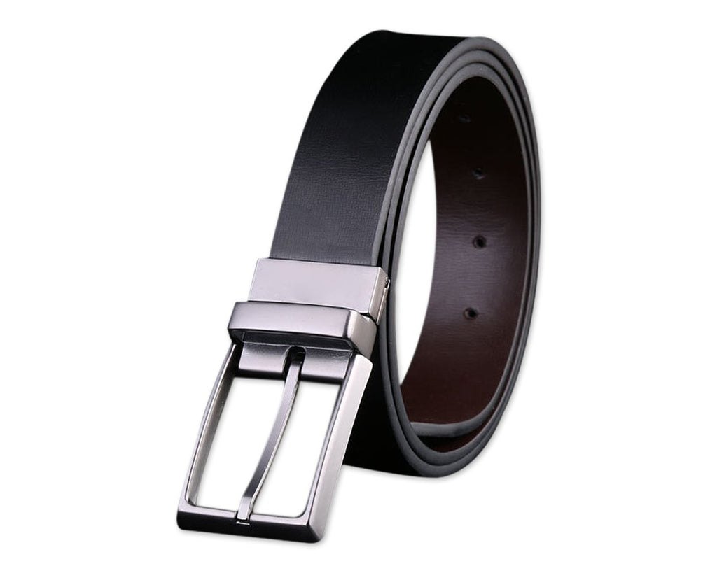 Leather Belts for Men with  A Flannel Bag and A Gift Box