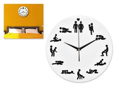 Funny Wall Clock 12 Inches Sex Silent Timepiece