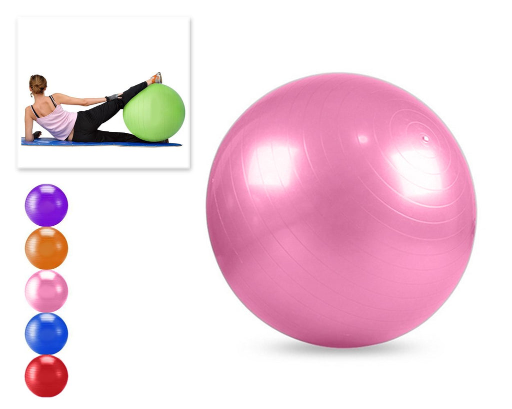 65cm Anti Burst Yoga Exercise Ball - Pink