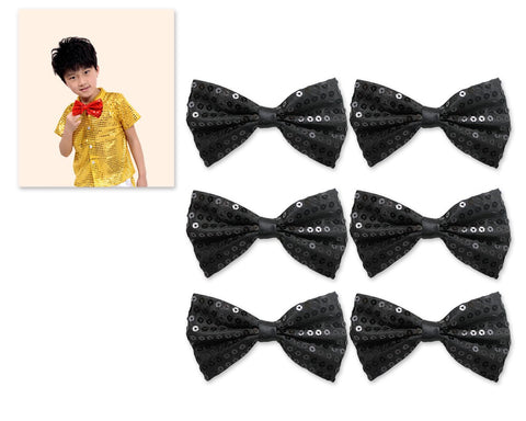 Kids Sequin Bow Tie for Party and Stage Show Set of 6