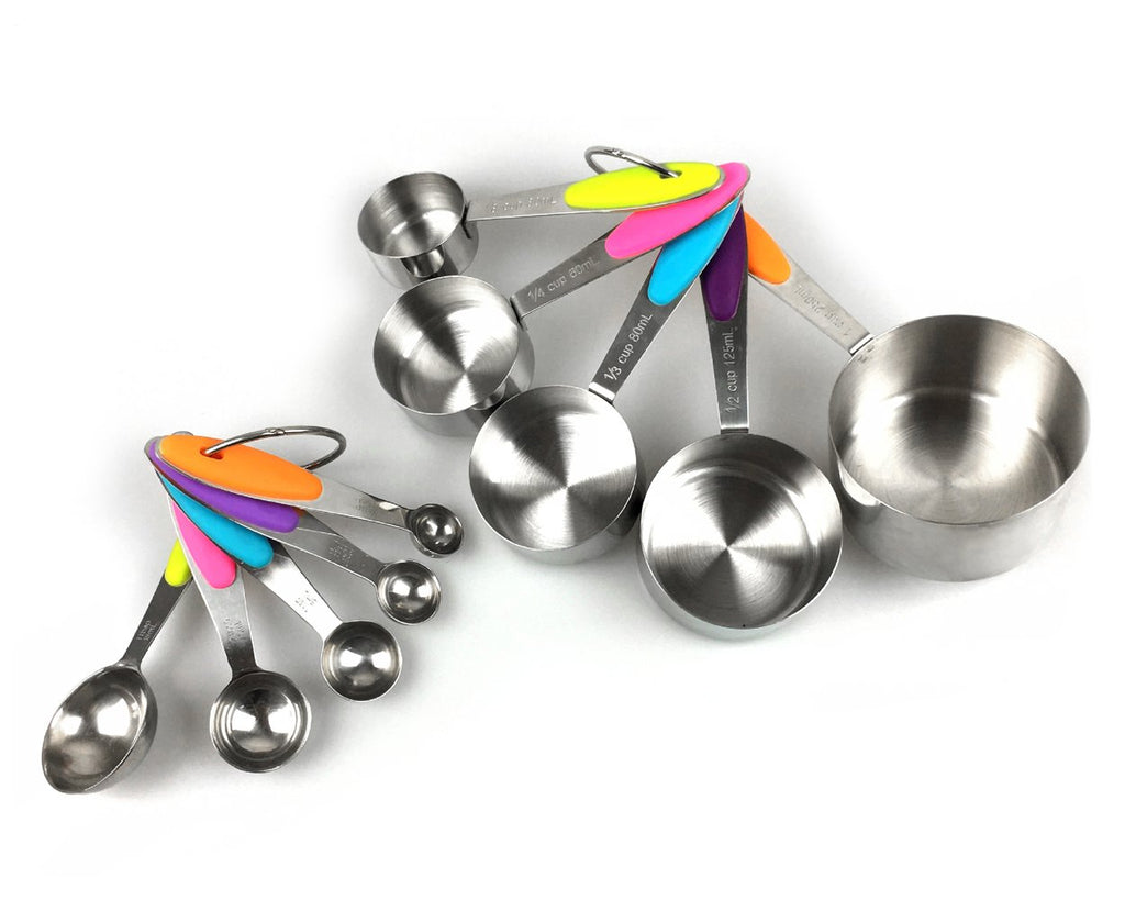 10 Pieces Stainless Steel Measuring Spoons