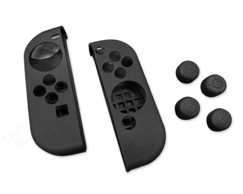 Nintendo Switch Joy Con Controllers Silicone Protective Cases - Black