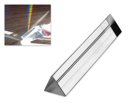 15cm Crystal Optical Glass Triangular Prism with Gift Box
