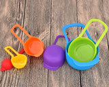 6 Pieces Plastic Measuring Spoons