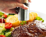 Stainless Steel Dual Combo Salt Pepper Mill with Ceramic Grinder